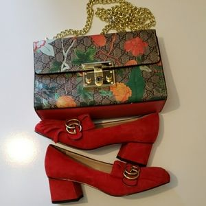 Gucci loafer shoes sz 8 and crossbody set